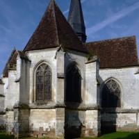 Le transept et le choeur vus du nord-est (2016)