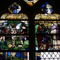 Fenêtre ouest du bras nord du transept : la Vierge de l'Apocalypse; saint Jacques et saint Sébastien (2016)