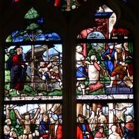 Fenêtre sud-est du choeur : la Crucifixion; scènes de la Vie de saint André (2016)