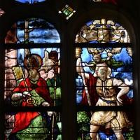 Fenêtre sud du choeur : saint Gervais; saint Christophe (2016)