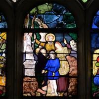 Fenêtre ouest du bras sud du transept : scènes de la Vie de saint Eustache (2016)