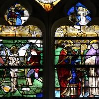 Fenêtre ouest du bras nord du transept (détail) : saint Sébastien et saint Jacques (2016)