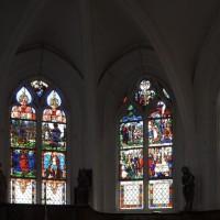 Vue partielle des vitraux du choeur (2016)