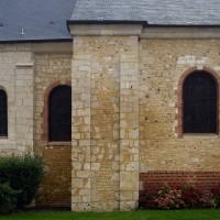 Le choeur et les partie romanes de l'églises vues du nord (2016)