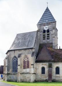 Le choeur et le clocher vus du nord (2009)